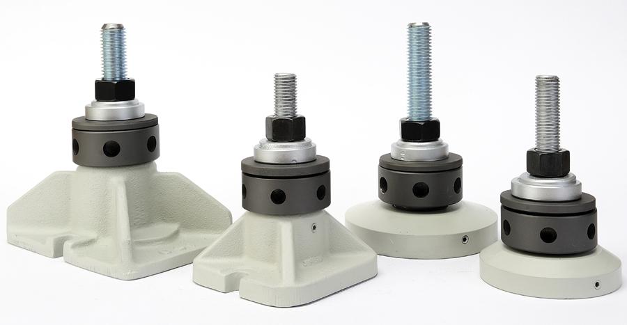 Bases de nivelación para maquinaria