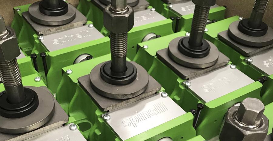 Niveladores y elementos de nivelación SPINELLI para máquina-herramienta color verde