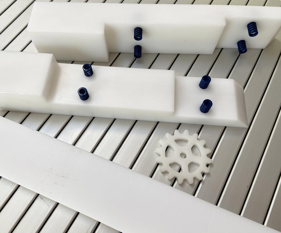 (POM) Resina acetálica. Plástico técnico para máquina-herramienta