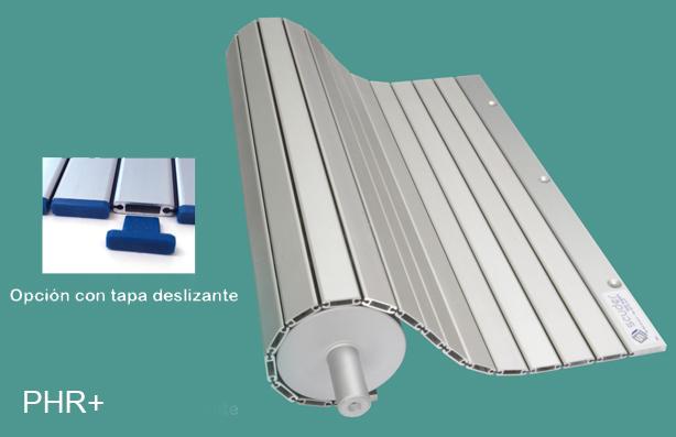 Persianas de protección para maquinaria de aluminio hueca phr+