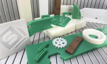 Plásticos técnicos para máquinas: Resina acetálica, Poliamida, Arnite, Polietileno, Policarbonato, Teflón, Bakelita/Celorón