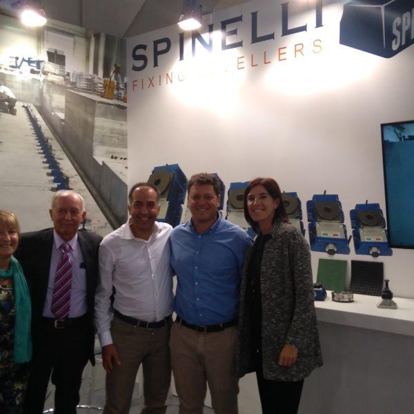 SCUDER visita el stand de SPINELLI en la Feria EMO-Hannover