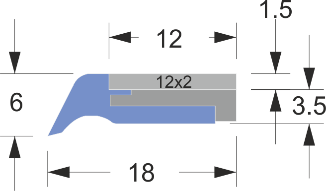 limpia guias serie ln-2 acero