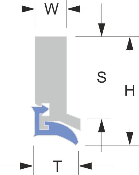 Limpia guias para máquinas / rascadores para máquinas serie LA