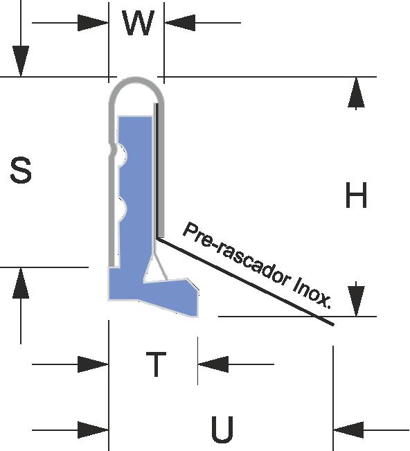 Limpia guías para máquina / Rascadores para máquina serie LMX