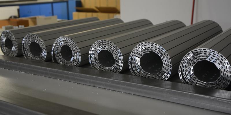 Persianas de protección para máquina-herramienta de aluminio hueca phr+