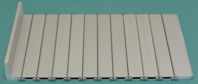 Persiana de protección para máquinas de aluminio hueca PHE