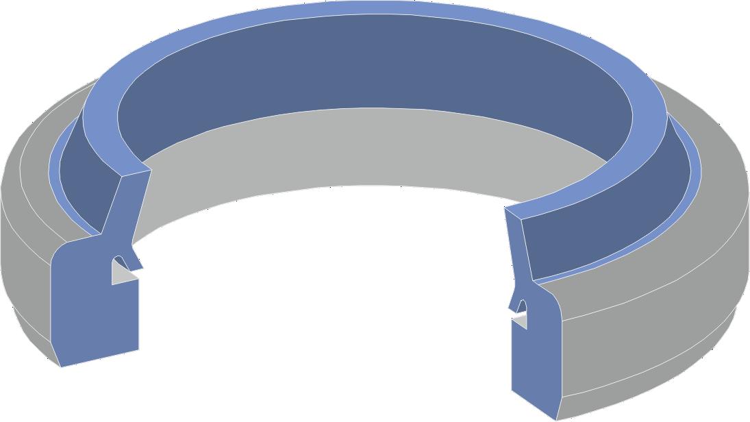 Limpia Guías para máquinaria industrial - Rascadores Cilíndricos para maquinaria industrial Serie LC-A Extrusionado de Scuder Way Wipers