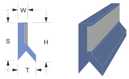 Limpia guías / rascador vulcanizado serie LJ-V