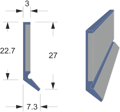 Limpia guías / Rascadores tipo LMCS-1 con protector inox.