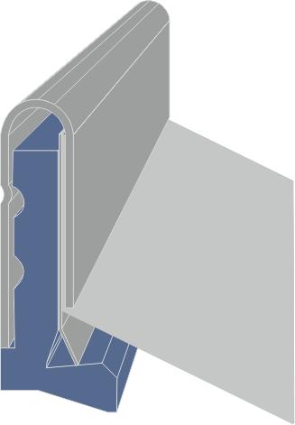 Limpia Guías para máquinaria industrial / Rascadores para maquinaria industrial tipo LMX-F