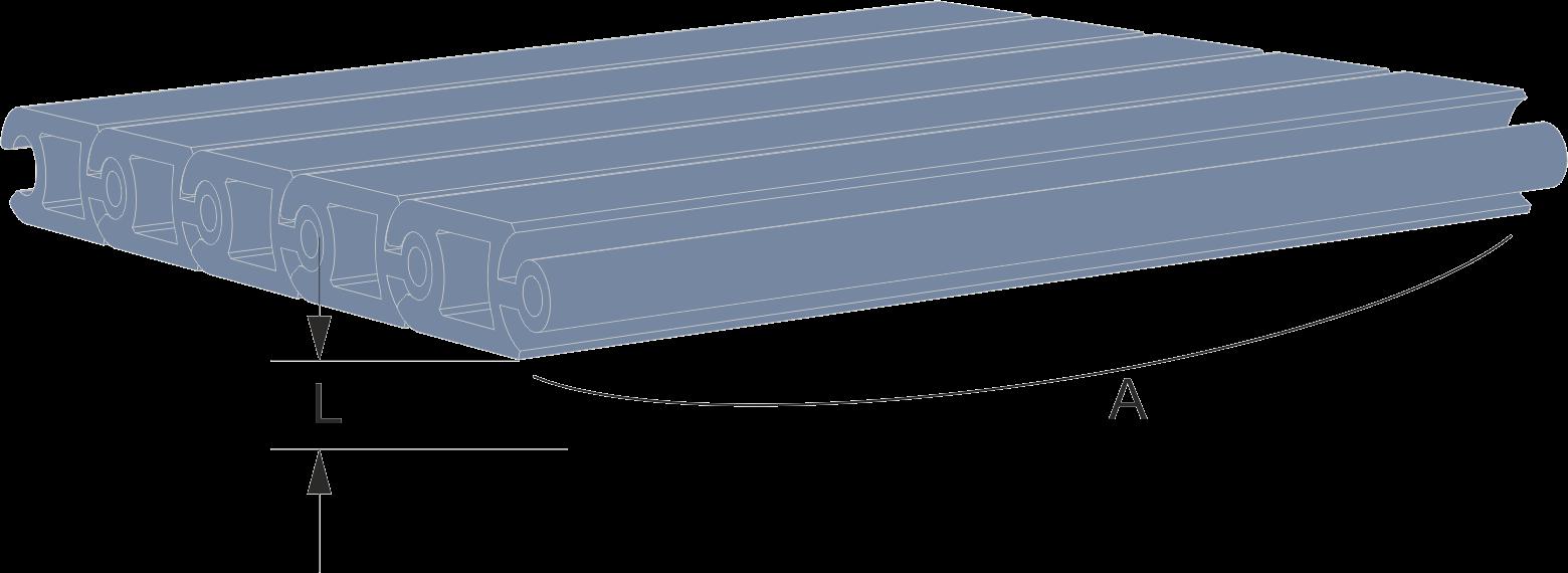 Persiana de protección para maquinaria Modelo CLA extrusionada