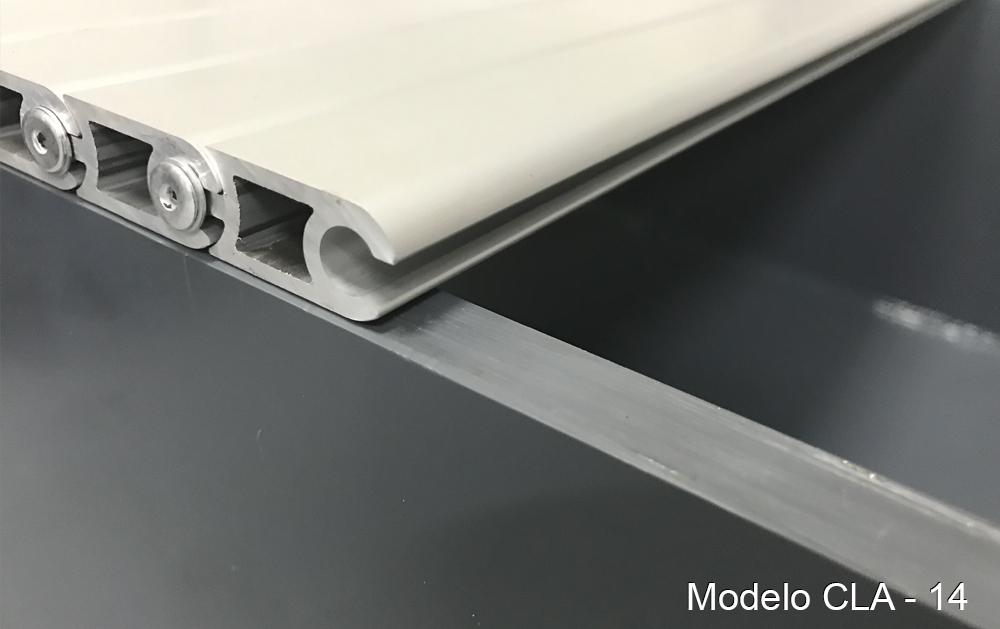 Persiana de protección para maquinaria modelo CLA-14 pisable cubre-fosos