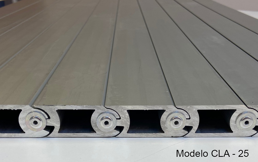 Persiana de protección para máquina-herramienta modelo CLA-25 pisable cubre fosos