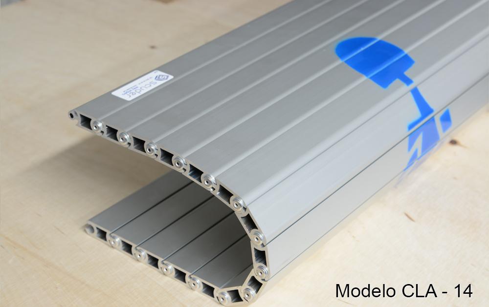 Persiana de protección para máquinas modelo CLA-14 pisable cubre-fosos