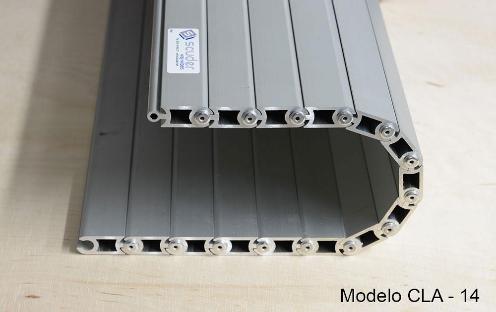 Persiana de protección para máquinas pisable cubre-fosos modelo CLA-14
